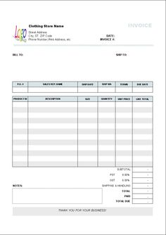 14 best photos of auto repair invoice template printable auto body, Invoice templates