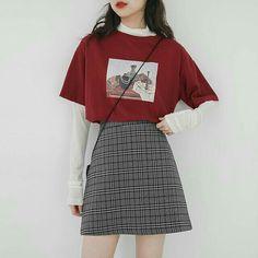 Korean Girl Fashion, Korean Fashion Trends, Korean Fashion Casual, Fashion Ideas, Fashion Quotes, Korean Street Fashion Summer, Ulzzang Fashion Summer, Korean Fashion School, Fashion Tips