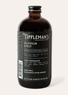 Falernum Robust SyrupFilled with Lime Zest and Tropical Spice Character Specifications 16.9 fl oz/500mlAverage Pour Size: 3/4 ozAverage Bottle Yield: 22 portions Ingred