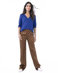 98895a288d580 ALICE- Blue V-neck long sleeve nursing and maternity blouse Nursing Wear,  Nursing