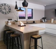 One of the Most Neglected Systems for Contemporary Kitchen That Makes a Great Party Space - targetinspira Open Plan Kitchen Living Room, Kitchen Room Design, Home Room Design, Modern Kitchen Design, Kitchen Interior, Home Interior Design, Kitchen Decor, Cuisines Design, Küchen Design