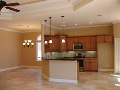 kitchen and formal dining room area