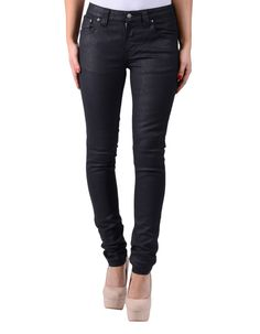 Nudie Black Skinny Lin Organic Leather Look Jeans | Accent Clothing