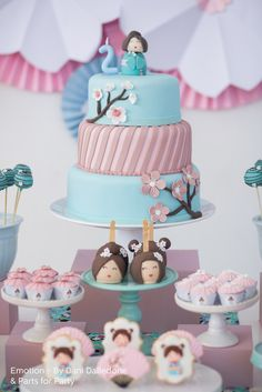 Kokeshi Doll Themed Birthday Party via Kara's Party Ideas | KarasPartyIdeas.com (15)