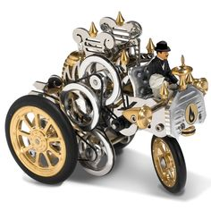 The External Combustion Kraftwagen - Hammacher Schlemmer $999.95 This is the fully operational car powered by an external combustion Stirling engine. Made in Germany from machine-tooled solid brass, stainless steel, and aluminum, it uses the thermodynamic principle of a regenerative heat engine--put to its first practical use in 1818 by Robert Stirling--powered by the expansion and compression of air.