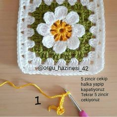 Embroidery for Beginners & Embroidery Stitches & Embroidery Patterns & Embroidery Funny & Machine Embroidery Crochet Butterfly Free Pattern, Crochet Motif Patterns, Crochet Triangle, Granny Square Crochet Pattern, Crochet Diagram, Crochet Squares, Crochet Stitches, Crochet Flower Scarf, Crochet Flowers