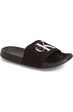 Wardrobe Ideas, New Wardrobe, Toms Flats, Bold Logo, Calvin Klein Jeans, Slide Sandals, Sliders, Montana, Madness