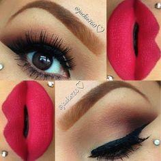 Matte lip color.