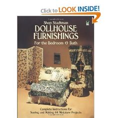 55 best doll house books images on pinterest dollhouses doll dollhouse furnishings for the bedroom and bath complete instructions for sewing and making 44 miniature projects dover needlework a book by shep solutioingenieria Image collections