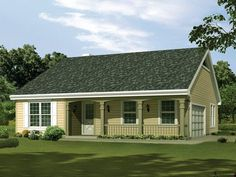 Simple Country House Plans this is a 3-bedroom house plan that can fit in a lot with an area