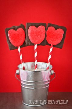 Valentine PEEPS S'mores On A Stick | Love from the Oven