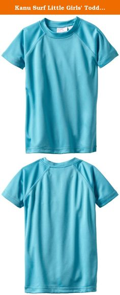 Kanu Surf Little Girls' Toddler Solid UPF 50+ Swim Tee, Aqua, 3T. Kanu surf presents our newest swim tees with a much looser fit than traditional rashguards for yet more comfort and versatility. Kanu, a surf and swim lifestyle brand is well known for great fit function and colors with high quality functional apparel for the whole family. All of our rashguards and swim tees are designed for surfers of all levels as well as the recreational athlete. They are ideal for running, swimming and...