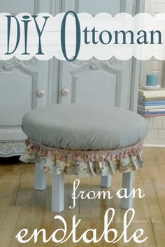 Repurposing an old end table! DIY Ottoman/Stool!