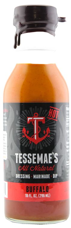 Hot Buffalo Sauce | Tessemae's All Natural The hottest of the two wing sauces. It has a black label for a reason. Just sayin'…