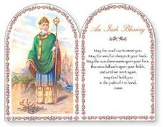 Saint Patricks day inspirational gifts with Irish blessings. May good St. Patrick bless you and keep you in his are, and may our Lord be near you, to answer every prayer. House Blessing, Irish Blessing, Lazer Cut, St Patrick's Day Gifts, Irish Traditions, Wooden Plaques, Patron Saints, Inspirational Gifts, St Patricks Day