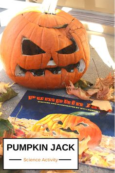 Pumpkin Jack Rotting Science Experiment and Pumpkin Life Cycle Activity. Pumpkin science for Fall STEM. Pumpkin Jack book and activity.