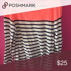 J. Crew Striped Boatneck Tee Boatneck tee with 3/4 length sleeves. 100% cotton J. Crew Tops Tees - Long Sleeve