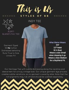 Our Super Soft Indy Tee with handcrafted distressing Workout Wear, Indie, Unisex, Tees, How To Wear, Style, Swag, Chemises, Tee Shirts
