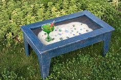 Display Coffee Table with Glass Top by natureinspiredcrafts,