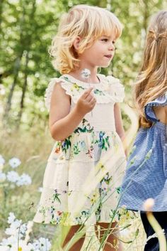 White Floral Print Broderie Prom Dress With Embroidery (3mths-6yrs)