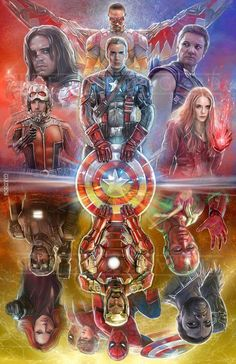 Captain America: Civil War by Gard * - Art Vault