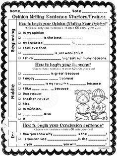 These sentence starters/frames, graphic organizers, and publishing templates are the perfect tool to help your students master opinion writing. Included are two different sets. One set can be used to write an opinion piece about any topic/theme. The other set can be used to write an opinion piece about a favorite book. Great tool to use when teaching opinion writing during Writer's Workshop or with any writing instruction/program.