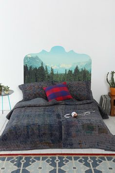Magic Mountain Headboard Wall Decal #urbanoutfitters