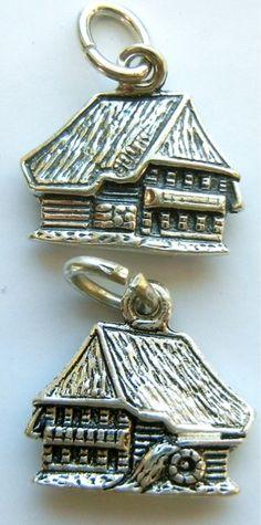 Swiss Chalet Switzerland Silver Travel Bracelet Charm -