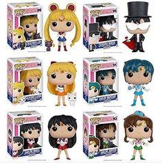 From Sailor Moon, Sailor Moon, Tuxedo Mask, Sailor Mars, Sailor Mercury, Sailor Jupiter and Sailor Venus as stylized POP vinyls from Funko.