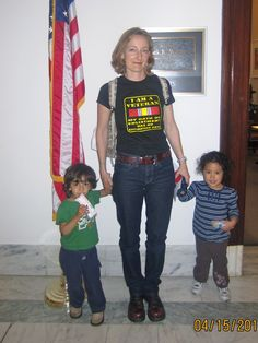 Mom and veteran talks about her visit to Capitol Hill with two toddlers in tow. She's a tough and brave woman!