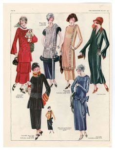 """Plate Fashion plates, The Costume Institute Fashion Plates. The Metropolitan Museum of Art, New York. Gift of Woodman Thompson This plate comes from """"The Delineator,"""" December 20s Fashion, Fashion History, Art Deco Fashion, Fashion Prints, Vintage Fashion, Womens Fashion, Fashion Design, Fashion Stores, Illustration Mode"""