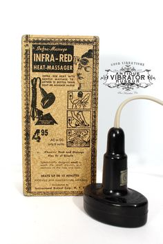 """The Infra-Red Heat Massager. """"Scientifically designed small to reach the small crevices and contours of the face and body."""""""