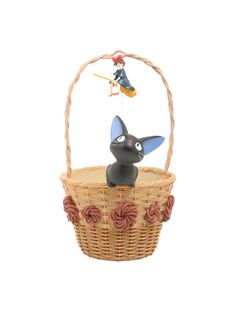 """This planter is the perfect way to deliver a living (or silk) floral  arrangement to the <i>Kiki's Delivery Service</i> fan in your life. This  adorable resin flower pot from Studio Ghibli features Jiji sitting in the basket, looking up at Kiki on the handle.<br><ul><li style=""""LIST-STYLE-POSITION: outside !important; LIST-STYLE-TYPE: disc !important"""">Approx. 10 1/2"""" x 6""""</li><li style=""""LIST-STYLE-POSI..."""