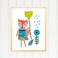 Nursery scandinavian art wall decor home baby girl baby boy fox montains shower kids adventure- Cros Baby Room Wall Decor, Baby Decor, Wall Art Decor, Baby Boy Tops, Baby Cross Stitch Patterns, Scandinavian Art, Baby Boy Nurseries, Color Patterns, Nursery
