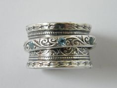 spinner silver ring , sterling silver  jewelry , Bluenoemi ring, ring for woman