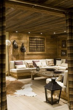 MyHouseIdea - Architecture, homes inspirations and more. Chalet Design, Chalet Interior, Interior And Exterior, Contemporary Home Furniture, Cabin Interiors, Interior Decorating, Interior Design, My New Room, Log Homes