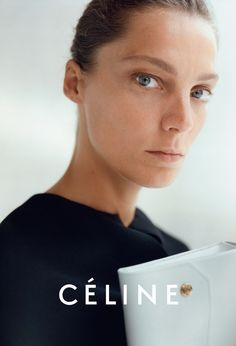 Daria Werbowy for Céline #style #fashion #beauty #campaign