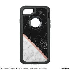 Black and White Marble Texture OtterBox Defender iPhone 7 Case