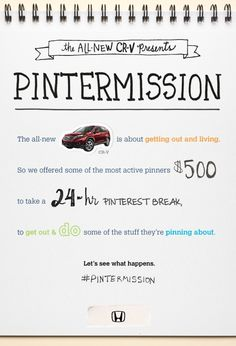 Honda CR-V asked people to take a break from Pinterest and do the things they pin.