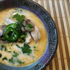 "Spicy Chicken Thai Soup I ""This is very close to the Authentic Tom Yum soup we made in a cooking class in Thailand. Fabulous!"""