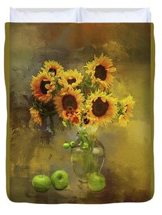 Use my code RPYCZV for  20% discount at checkout on any art or art product on my FAA site! #SALE #pillow #sunflowers #duvet