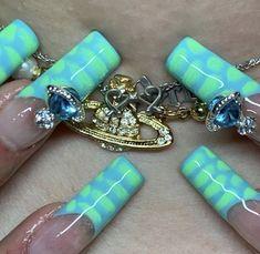 Cute Acrylic Nail Designs, Simple Acrylic Nails, Almond Acrylic Nails, Best Acrylic Nails, Colorful Nails, Edgy Nails, Bling Nails, Stylish Nails, Garra