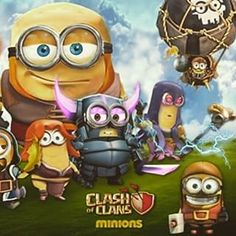 Clash of clans en mode Minions Clash Of Clans Cheat, Clash Of Clans Hack, Online Photo Editing, Image Editing, Castle Clash, Barbarian King, New Dragon, Editing Pictures, Star Wars