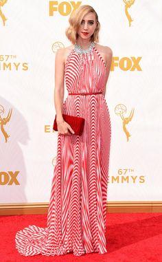 Zoe Kazan in Miu Miu at the 2015 Emmys
