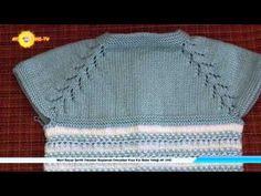 DÜZ YAPRAKLI ROBA YAPILIŞI - YouTube Crochet For Kids, Crochet Baby, Crochet Top, Knitting Videos, Free Knitting, Dress With Cardigan, Crochet Fashion, Baby Dress, Lana