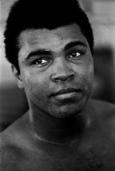 Muhammad Ali in training in Miami Florida, 1971.