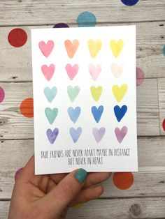 I miss you card. Thinking about you card. Best Friend Cards, Friend Gifts, Cards For Friends, Rainbow Card, Homemade Greeting Cards, Greeting Cards Handmade, Homemade Cards, Cards Diy, Cards
