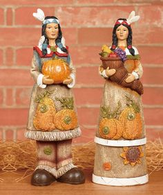 Another great find on #zulily! Burlap Texture Indian Figurine Set by Transpac Imports #zulilyfinds