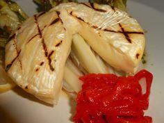 Shawna's Food and Recipe Blog: Alla Griglia Käserei Champignon Rougette Formaggio su Lattuga Romana e Bianco Marsala Porcini Vinaigrette