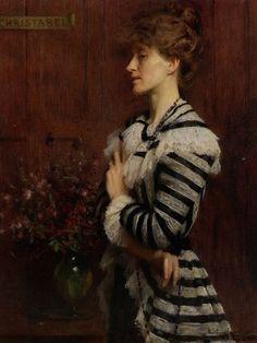 Portrait of Christabel Cockerell, Lady Frampton, 1900 by Arthur Hacker (British 1858-1919)